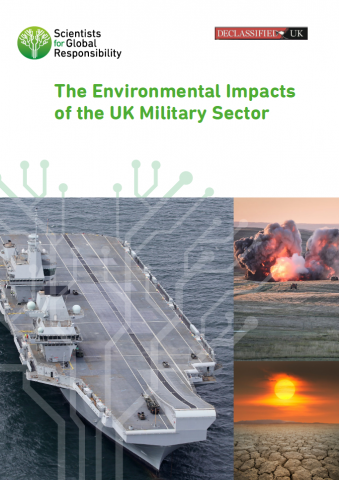 UK military environmental impacts - report cover