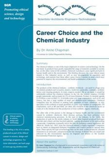 Ethical careers: Chemical industry