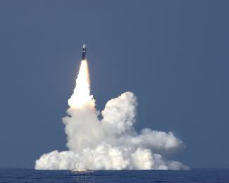 Trident missile launch