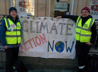 Emily Health at climate protest